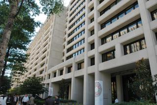 アメリカ・ワシントンの国際通貨基金(IMF)本部外観