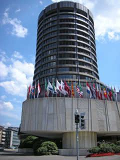 スイス・バーゼルの国際決済銀行(BIS)本部外観【2008年6月撮影】
