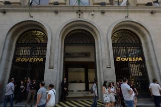 サンパウロ証券取引所の外観(ブラジル・サンパウロ)【2015年9月撮影】