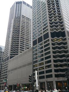 シカゴのマーカンタイル取引所(CME)外観【2006年12月撮影】