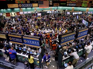 COMEX取引が行われているニューヨーク商業取引所(NYMEX)のフロア【2007年3月】